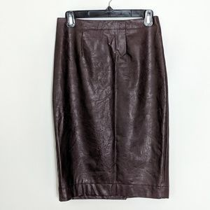 Ann Taylor Pencil Skirt Faux leather